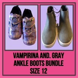 Shoe Bundle Vampirina & Gray Boots Size 12